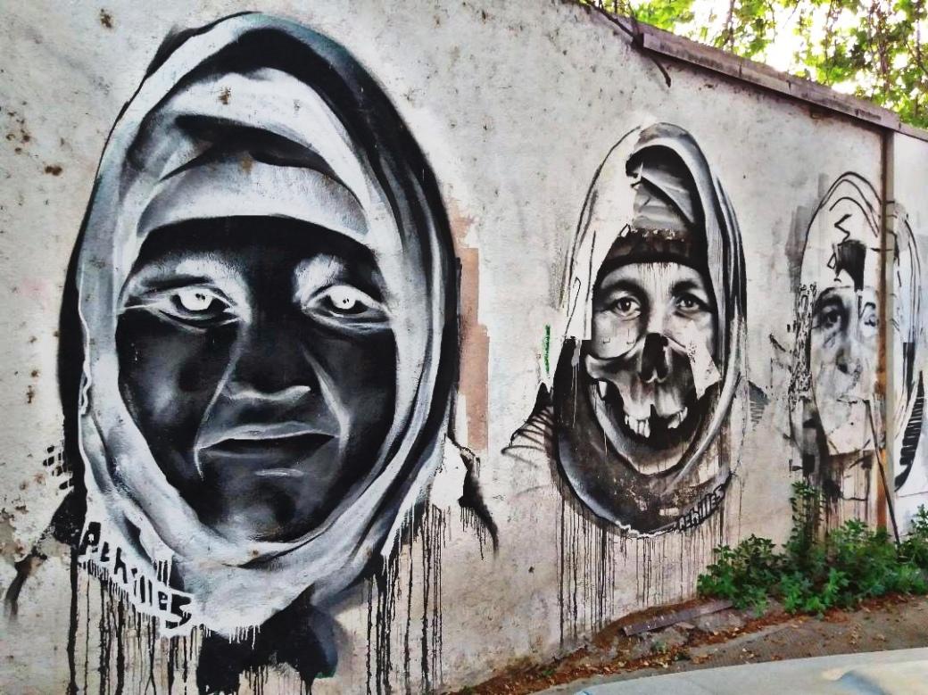 Street Art Athènes Achilles